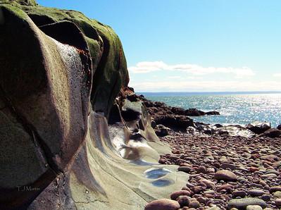 Cape Split Beach at low tide