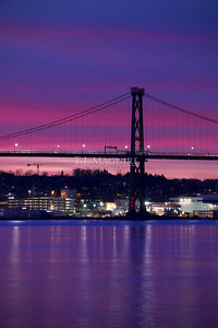 MacDonald Bridge Sunset, Halifax, NS