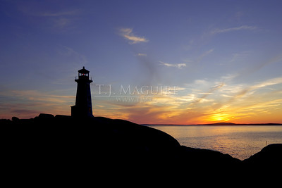 Sunset Silhouette, Peggy's Cove, NS