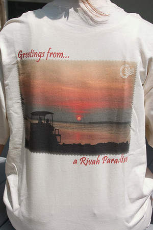 Greetings from a Rivah Paradise t-shirt - actual shirt example - any image available on shirts