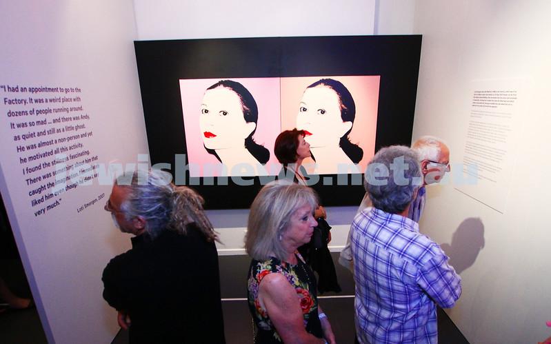 20-11-14. Opening of Warhol - Jewish Geniuses exhibition at the Jewish Museum of Australia. Portrait of Loti Smorgon. Photo: Peter Haskin