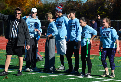 11/19/2016 Mike Orazzi | Staff The 17th annual Powder Puff Football game at Bristol Central High School Saturday morning.