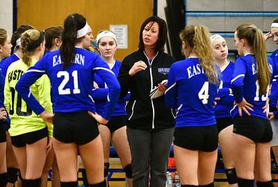 11/10/2016 Mike Orazzi | Staff Bristol Eastern's Stacy Rivoira during the Class L Second Round State Girls Volleyball Tournament at Bristol Eastern Thursday night.