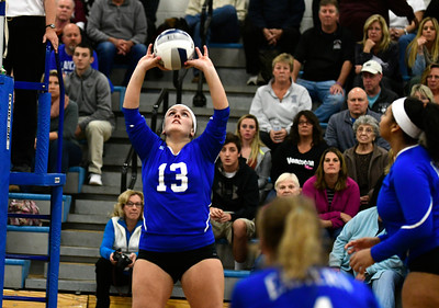 11/10/2016 Mike Orazzi | Staff Bristol Eastern's Jessica Kenney (13) during the Class L Second Round State Girls Volleyball Tournament at Bristol Eastern Thursday night.