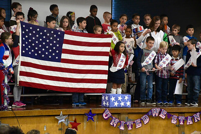 11/10/2016 Mike Orazzi | Staff The Edgewood School's Veterans Day program in Bristol Thursday morning.