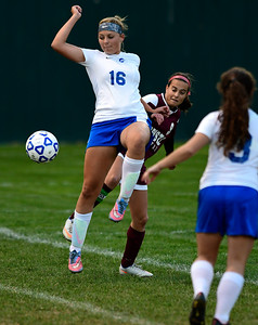 11/1/2016 Mike Orazzi | Staff Bristol Eastern's Meredith Forman (16) at Muzzy Field Tuesday evening.