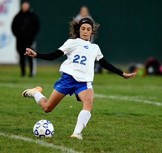 11/1/2016 Mike Orazzi | Staff Bristol Eastern's Kailey Laprise (22) at Muzzy Field Tuesday evening.