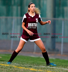 11/1/2016 Mike Orazzi | Staff Bristol Central's Selena Norton (5) at Muzzy Field Tuesday evening.