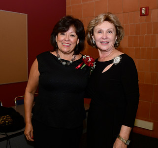 11/12/2016 Mike Orazzi | Staff Diane Alverio and Ann Targonski-Brown during the Immigrant Heritage Hall of Fame induction ceremony at Central Connecticut State University Saturday night.