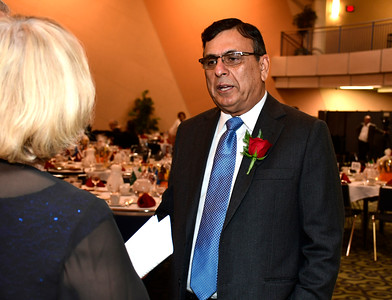 11/12/2016 Mike Orazzi | Staff Naeem Khalid during the Immigrant Heritage Hall of Fame induction ceremony at Central Connecticut State University Saturday night.