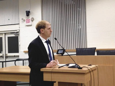 Tim Malone of the Capital Region Council of Governments spoke about closing the gap in the Farmington Canal Heritage Trail at a Southington Town Council meeting.