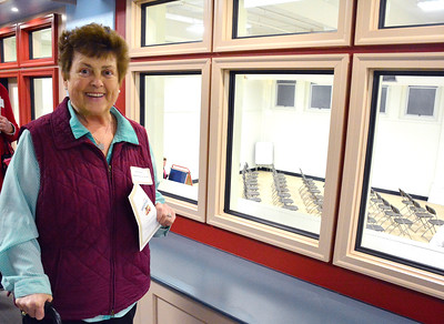 11/16/2016 Mike Orazzi | Staff State Rep Betty Boukus during the open house at the Bristol Preschool Child Care Center inside the former Jennings School in Bristol Wednesday night.