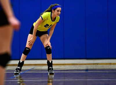 11/2/2016 Mike Orazzi | Staff Southington's Lynsey Danko (21) during the CCC Volleyball Tournament.