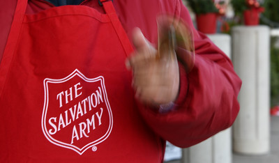 112216  Wesley Bunnell | Staff  Volunteer bell ringers from the Salvation Army stood outside Stop & Shop in Berlin on Tuesday afternoon collecting donations for the holidays.  Oscar Serrano is in his second year of volunteering.
