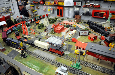 11/24/2012 Mike Orazzi | Staff Toy trains at Amato's Toy and Hobby in New Britain on Saturday.