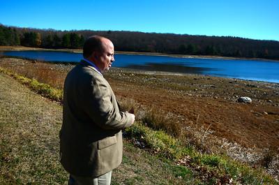 11/23/2016 Mike Orazzi | Staff Bristol Water Department Superintendent Robert Longo at Reservoir Number 5 in Harwinton Wednesday morning.