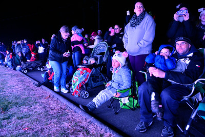 11/25/2016 Mike Orazzi | Staff Part of the crowd enjoying Lights on Rosewood at 111 Rosewood Drive in Bristol Friday night in his honor.