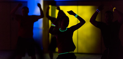 113016  Wesley Bunnell | Staff  CCSU held an Electronic Dance Party on Wednesday evening at the Student Center. The party is a Zumba like dance party for students to blow off some steam before final exams.