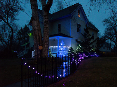 113016  Wesley Bunnell | Staff  Homes in New Britain are singing up to compete of the best holiday house in a contest run by the parks and recreation department. 605 Lincoln St. is shown.