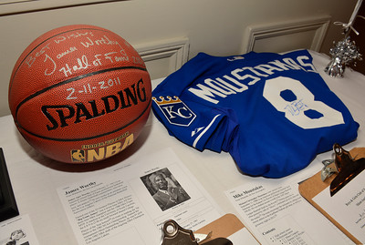 11/3/2016 Mike Orazzi | Staff Auction items during the Boys & Girls Club of New Britain's 125th annual meeting and gala at the Farmington Club Thursday night.