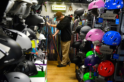 11/3/2016 Mike Orazzi | Staff Phil Pomposi shops for a new snowboard at Bobs Sports Chalet in Bristol.