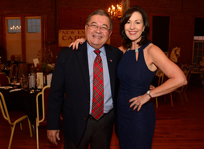 11/5/2016 Mike Orazzi | Staff 2013 Ace Award Recipient Rich Theriault with 2016 Recipient Mary Lynn Gagnon during the 2016 ACE awards held at The New England Carousel Museum and the Bristol Center for Arts & Culture Saturday night.