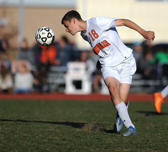 11/8/2016 Mike Orazzi   Staff Terryville's Dana Mazur (18) during the Class S First Round Soccer Tournament at THS Tuesday.