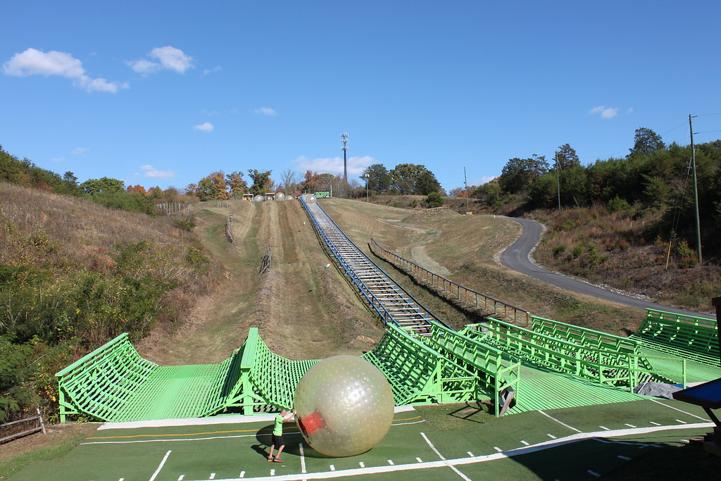 Zorbing in Pigeon Forge