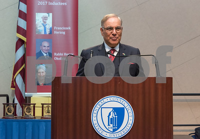 11/4/17  Wesley Bunnell   Staff  The Immigrant Heritage Hall of Fame inducted 6 members on Saturday evening at Alumni Hall at CCSU. Inductee The Honorable Mohammad Nawaz Wahla gives the keynote address.