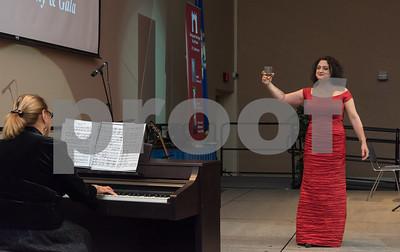 11/4/17  Wesley Bunnell   Staff  The Immigrant Heritage Hall of Fame inducted 6 members on Saturday evening at Alumni Hall at CCSU. Mezzo-Soprano Monika Krajewska performs Llbiamo by Verdi.