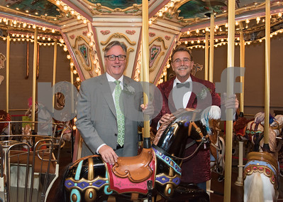 11/4/17  Wesley Bunnell   Staff  The 2017 ACE awards took place Saturday evening at the New England Carousel Museum.  Recipient Greg Hahn, L, and Craig Yard.