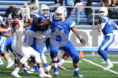 11/4/17  Wesley Bunnell   Staff  CCSU football defeated St. Francis 28-10 in a home game at Arute Field. OL Connor Mignone (74).