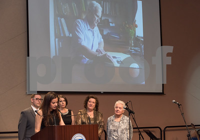 11/4/17  Wesley Bunnell   Staff  The Immigrant Heritage Hall of Fame inducted 6 members on Saturday evening at Alumni Hall at CCSU. Members of inductee Franciszek Herzog listen as Agnes Romanowska makes the introduction.