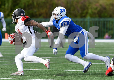 11/4/17  Wesley Bunnell   Staff  CCSU football defeated St. Francis 28-10 in a home game at Arute Field. S Najae Brown (13).