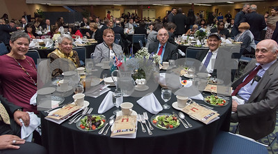 11/4/17  Wesley Bunnell   Staff  The Immigrant Heritage Hall of Fame inducted 6 members on Saturday evening at Alumni Hall at CCSU. Guests sit at the table reserved for the family of Rabbi Henry Okolica.
