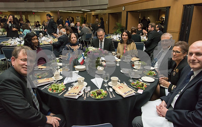 11/4/17  Wesley Bunnell   Staff  The Immigrant Heritage Hall of Fame inducted 6 members on Saturday evening at Alumni Hall at CCSU.  Guests sit at the table reserved for inductee The Honorable Mohammad Nawaz Wahla.