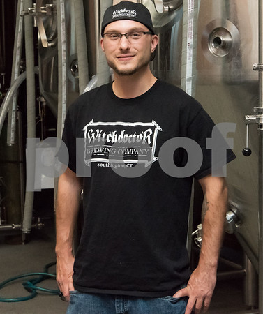 11/3/17 Wesley Bunnell | Staff Owner Josh Norris of Witchdoctor Brewing Company in Southington.