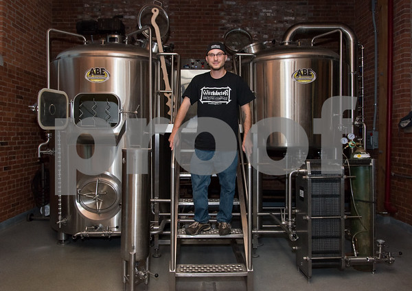 11/3/17 Wesley Bunnell   Staff Owner Josh Norris of Witchdoctor Brewing Company in Southington.