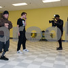 11/6/17  Wesley Bunnell | Staff<br /> <br /> Hoping to make it as the next big boy band members of We Are V1ral, WAVE, practice at The Boys & Girls Club on Monday evening. Members Lokz, L, Shoog and Dimas practice their moves while being filmed by DT of B&D Visual Entertainment while manager Stevey Newnez looks on.