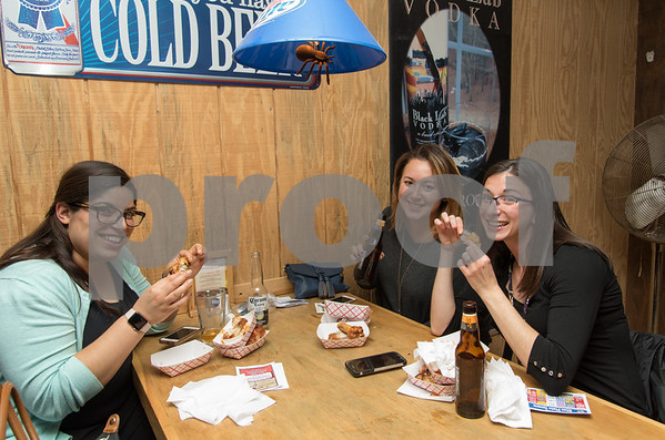 11/6/17 Wesley Bunnell   Staff The Southington Chamber of Commerce held their 12th annual Wing Fest on Monday evening at The Cadillac Ranch. Friends Adriana Dicenzo of Cheshire, L, Heather Hannon from Seymour and Christine Cassidy from Southington.