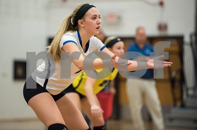 11/1/17  Wesley Bunnell | Staff  Southington girls volleyball defeated Platt Tech on Wednesday night at Southington High School. Haley Larrabee (7).