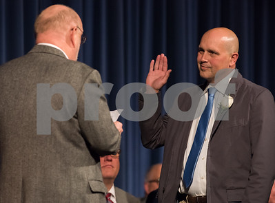 11/13/17  Wesley Bunnell | Staff  The City of Bristol held their 2017 Inaugural on Monday evening at Bristol Eastern High School. Thomas Barnes for City Treasurer with the oath administered by William Veits.