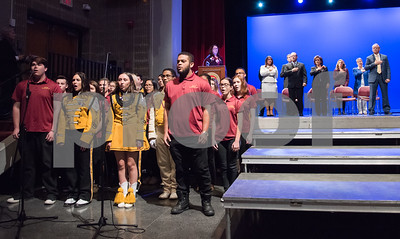 11/14/17  Wesley Bunnell   Staff  The inauguration of Mayor Erin E. Stewart and other elected officials was held on Tuesday morning at New Britain High School.  The New Britain High School Madrigals sing the Star Spangled Banner.