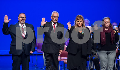 11/14/17  Wesley Bunnell   Staff  The inauguration of Mayor Erin E. Stewart and other elected officials was held on Tuesday morning at New Britain High School.  Common Council member Richard Reyes, Daniel Salerno, Eva Magnuszewski and Katie Breslin take the oath.