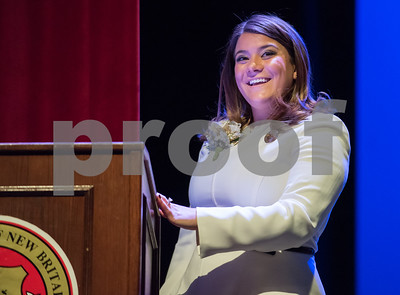 11/14/17  Wesley Bunnell   Staff  The inauguration of Mayor Erin E. Stewart and other elected officials was held on Tuesday morning at New Britain High School.  Mayor Erin E. Stewart looks out at the crowd after being sworn in as the city's 40th mayor.