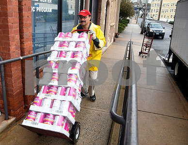 11/16/2017 Mike Orazzi | Staff Bristol Hospital's Lou Therrien while unloading food for area needy at the Bristol Hospital WIC Program on Prospect Street Thursday morning. Staff assembled Thanksgiving food packages for local families courtesy of donations from the Bristol Hospital Medical Staff.
