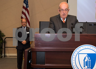 11/16/17  Wesley Bunnell | Staff  The Greater New Britain Chamber of Commerce covering New Britain and Berlin held their annual dinner Thursday evening at CCSU celebrating 104 years. Jim McNair gives the Benediction at the conclusion of the event.