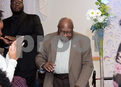 11/17/17  Wesley Bunnell | Staff  The New Britain NAACP Freedom Fund Dinner took place on Friday evening at St. George.  New Britain Civil Rights activist Alton Brooks stands and is applauded by the crowd.