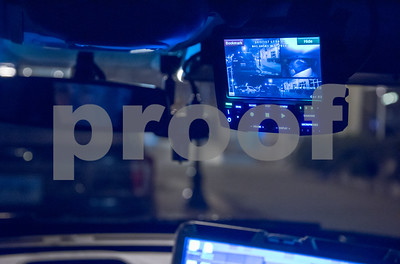 11/17/17  Wesley Bunnell | Staff  A New Britain Police SUV featuring the laptop with the Mobile Data Terminal and lcd screen mounted near the rear view mirror showing the onboard camera views.
