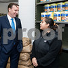 11/20/17  Wesley Bunnell | Staff<br /> <br /> HRA held its annual turkey distribution at the New Britain Food & Resource Center on Monday afternoon with help from workers and volunteers. Senator Chris Murphy talks with volunteer Lydia Colon.